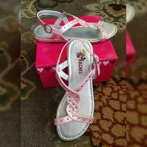 NEW Rachel Shoes Metallic Pink w\Studs Sandals
